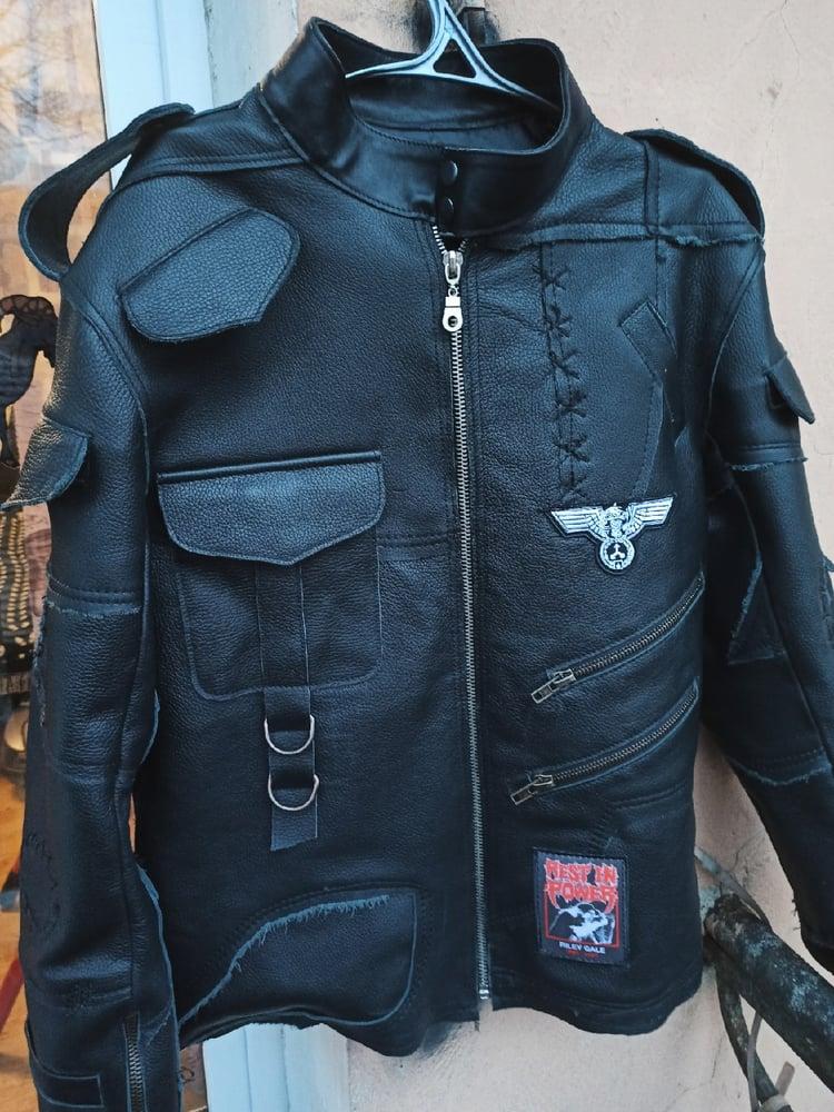 Image of Frankenstein leather coat