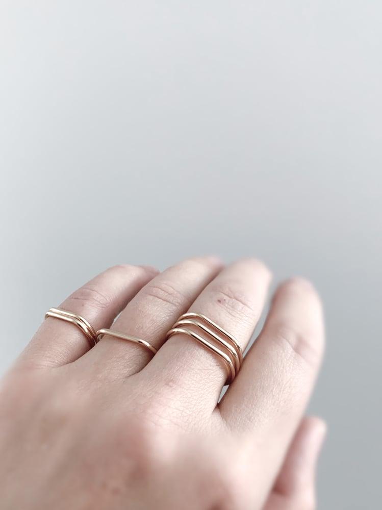 Image of Slightly Smashed Rings in Gold Filled or Rose Gold Filled