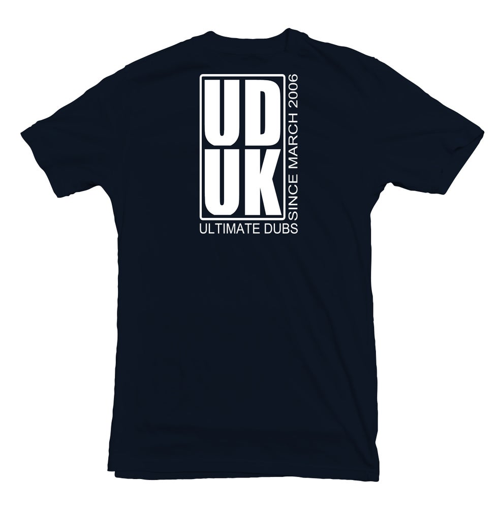 Image of Men's Ultimate Dubs - Box Logo Design To Back - Navy Blue with White Logo's