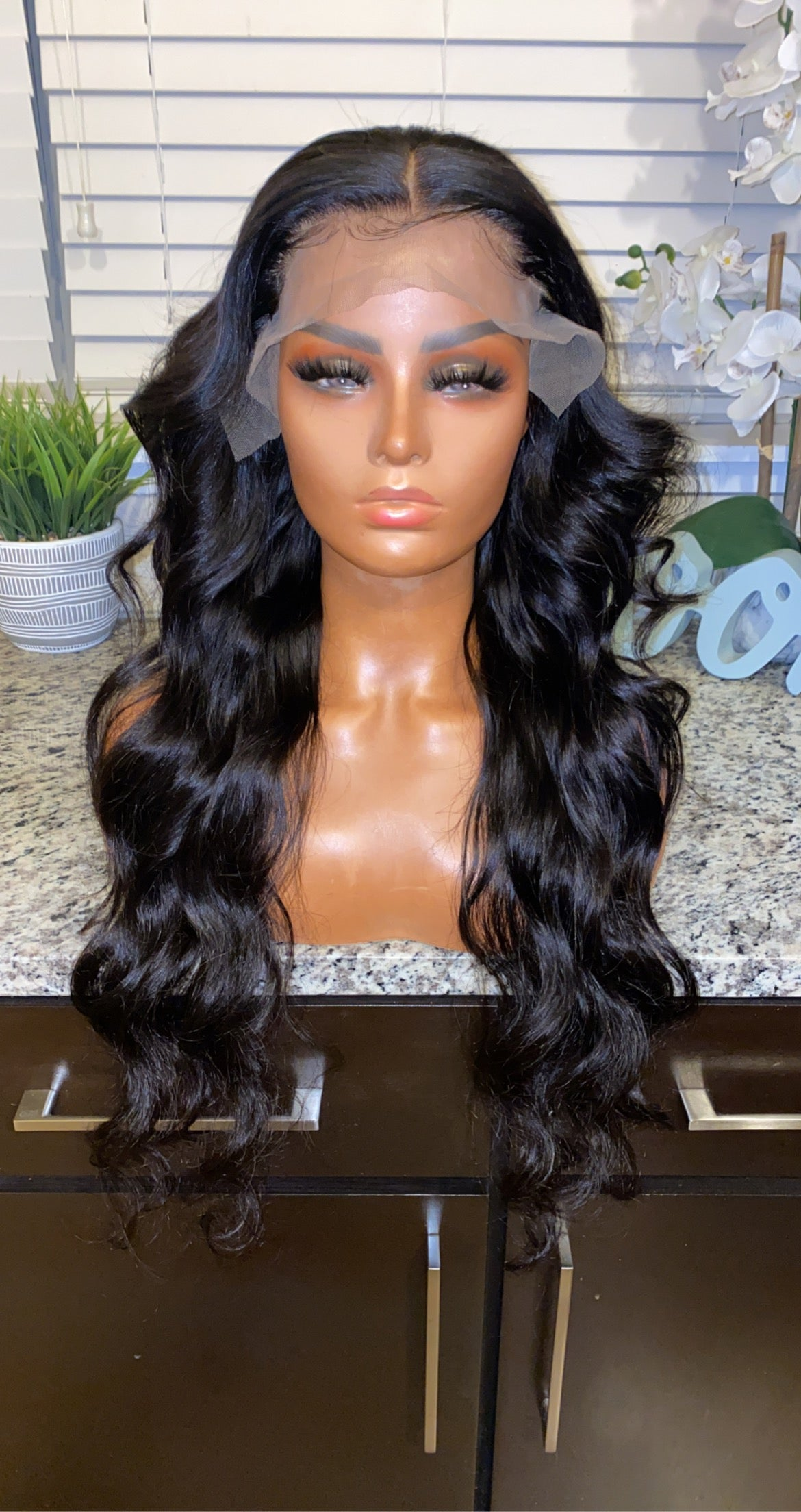 "Image of Brazilian Body Wave 28"" Custom Lace Frontal Wig!"