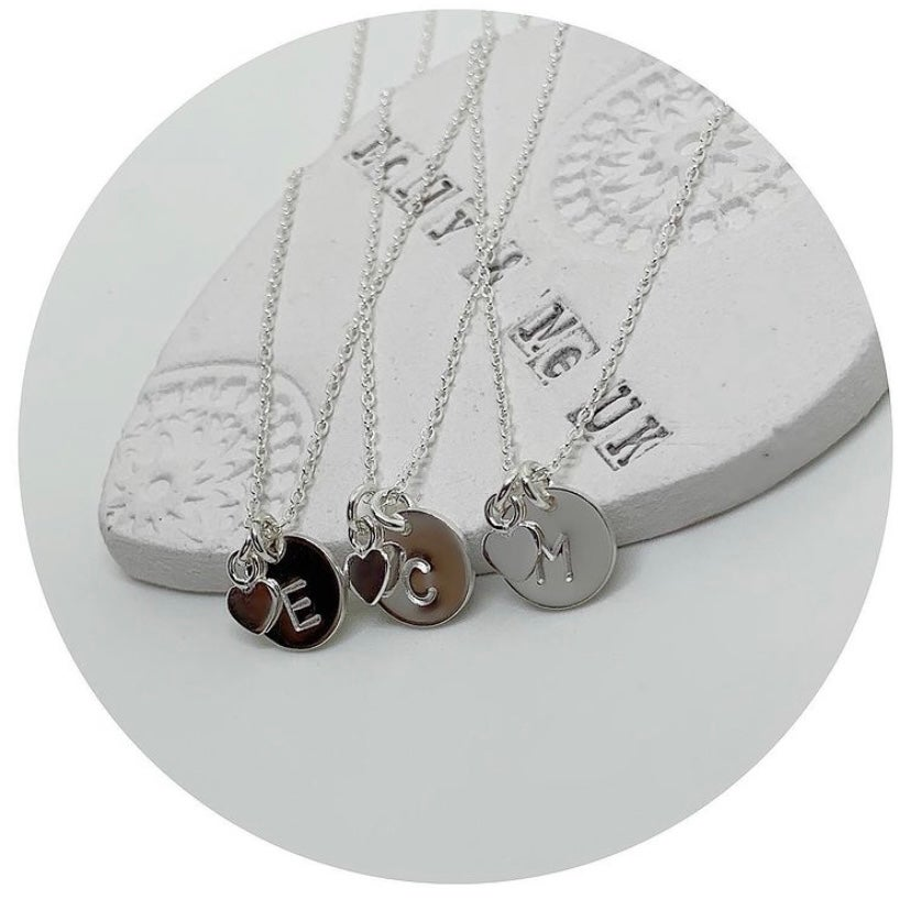 Image of Mini Heart & Initial Necklace