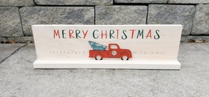 Image of Christmas Countdown with Sliding Truck