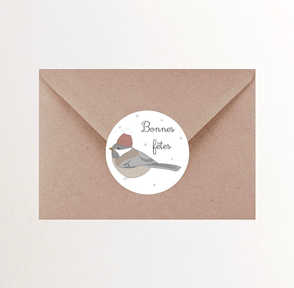 Image of Stickers Oiseau d'hiver