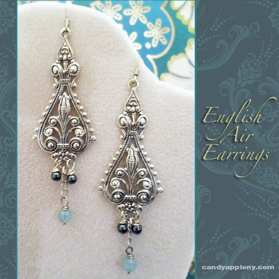 Image of English Air Swarovski Earrings