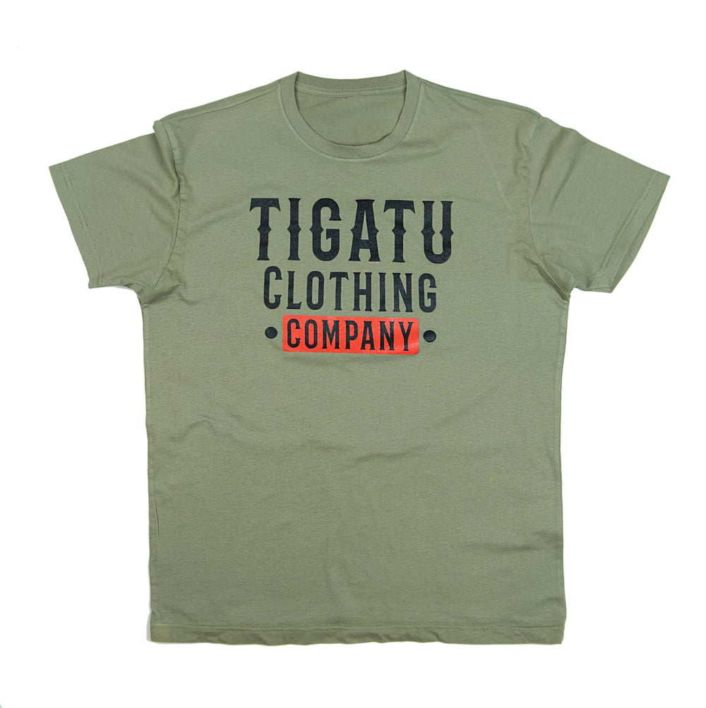 "Image of ""Western"" Tee - Light Olive"