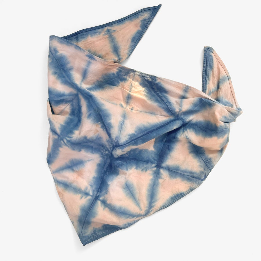 Image of Indigo & Avocado Dyed Dog Bandana