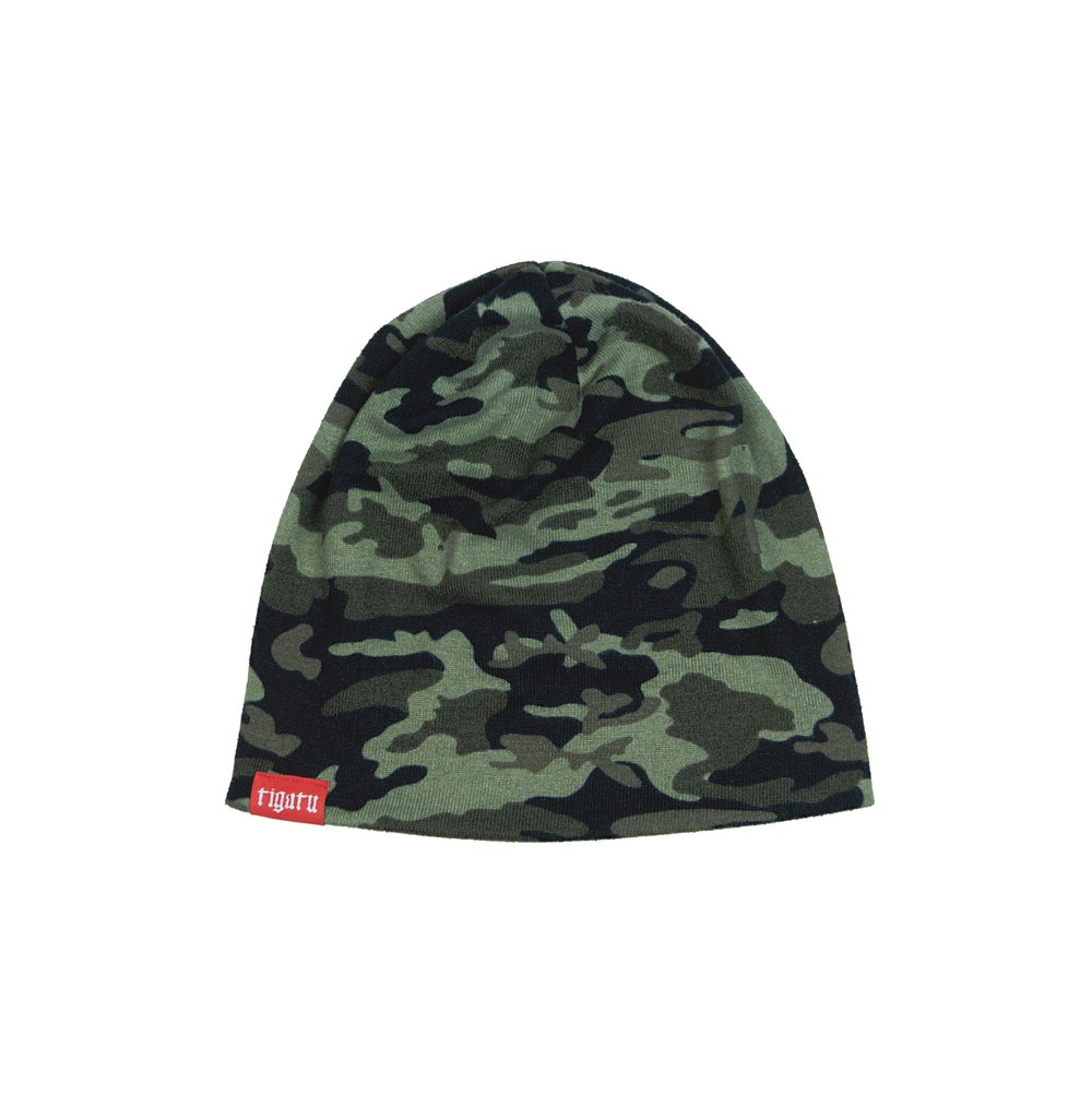 "Image of ""Branded"" Camo Beanie"