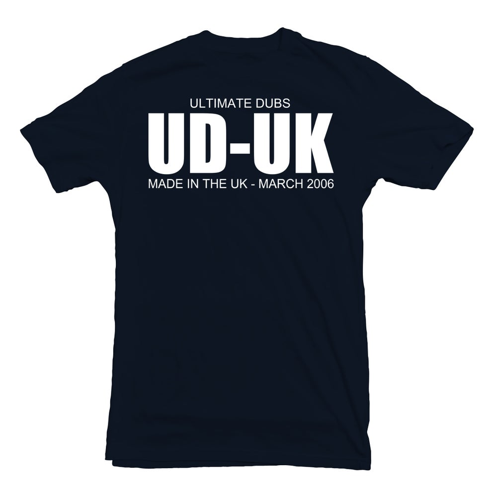 Image of Men's Ultimate Dubs - Made In The UK Design On Back - Navy Blue with White Logo's