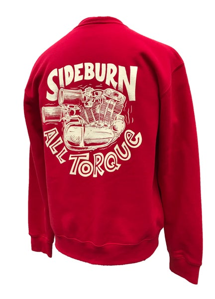 Image of All Torque Crewneck Sweat - RED