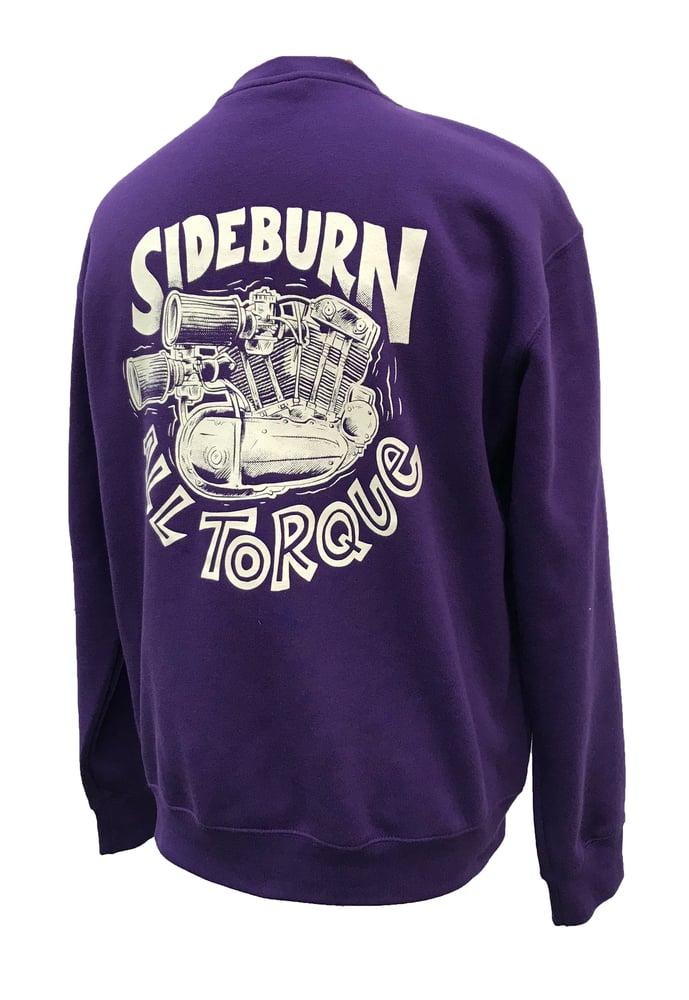 Image of All Torque Crewneck Sweat - Purple