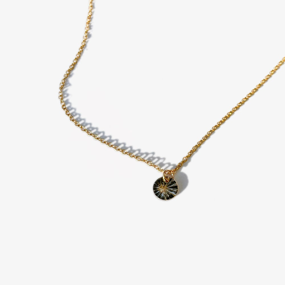 Image of North Star Tiny Pendant Necklace in 14K Gold