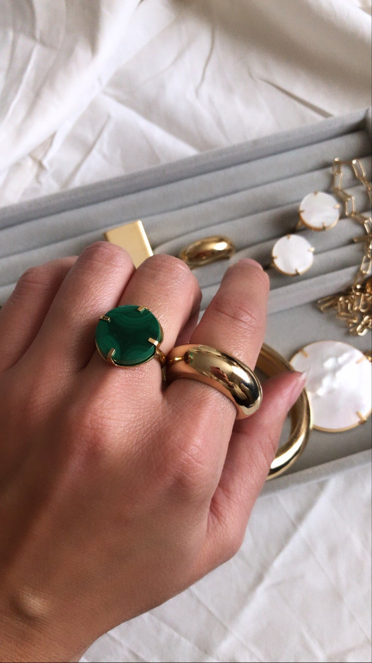 Image of Bague malachite