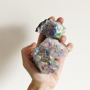 Image of Mini Aura Amethyst Crystal Clusters