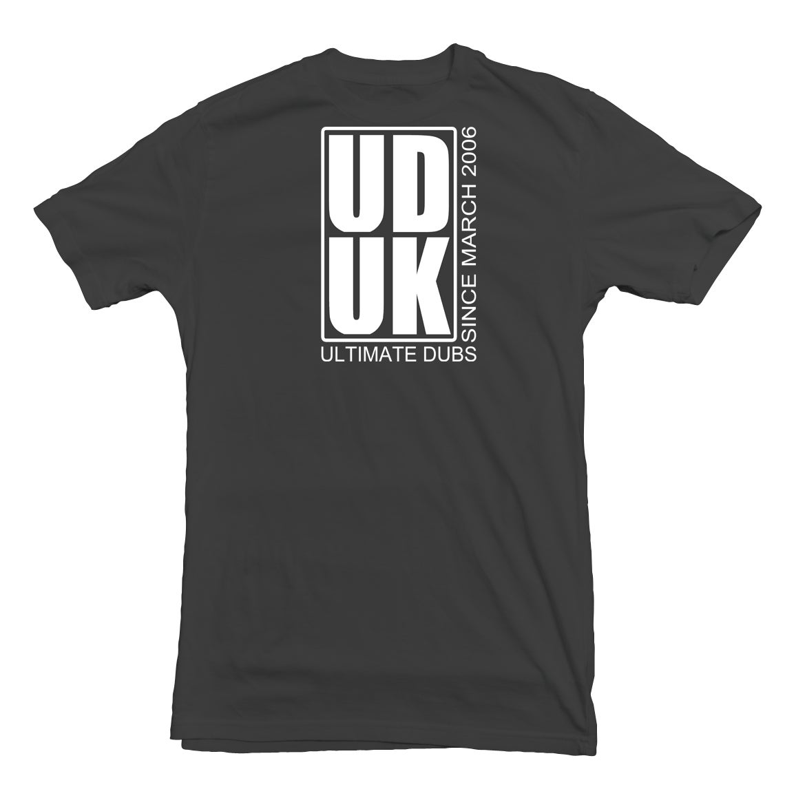 Image of Men's Ultimate Dubs - Box Logo Design To Back- Dark Grey with White Logo's