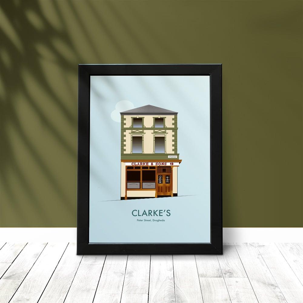Clarke's Pub Drogheda Art Print