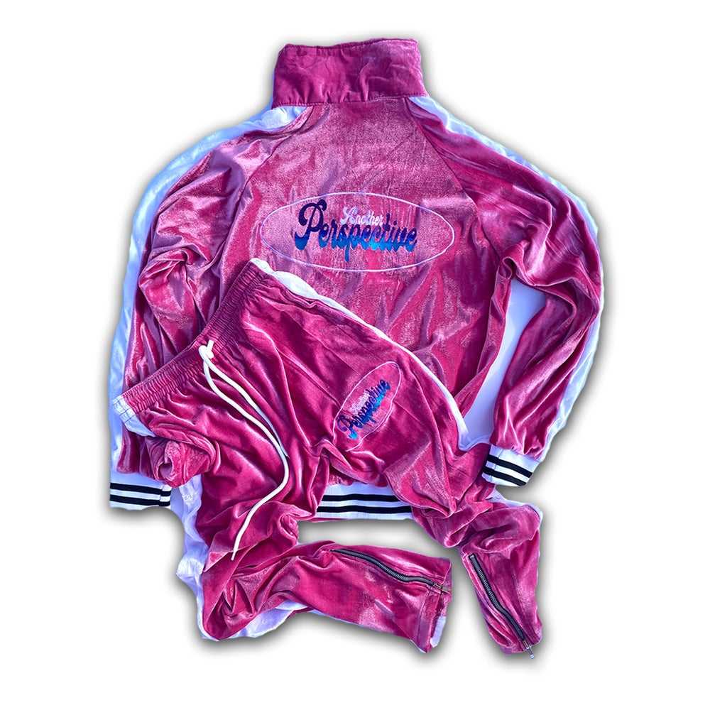 Image of Pink Velour Tracksuit