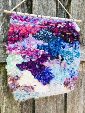 Image of  Raining Purple and Blue Weaving