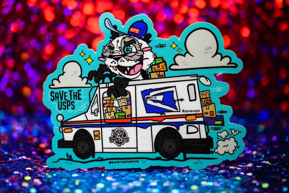 """Image of Save The USPS 4"""" Sticker"""