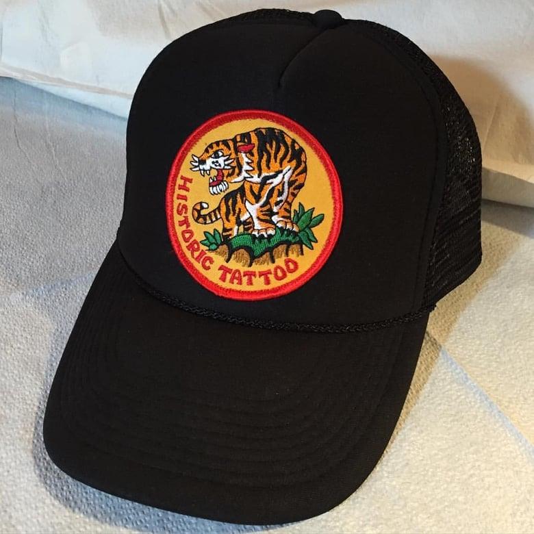 Image of Tiger hat - black