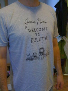 Image of Welcome To Duluth t-shirt (unisex in wht or grey)