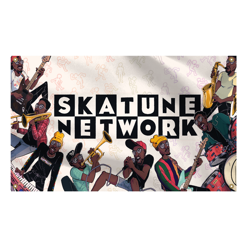 Image of Skatune Network FLAGS!!! (Limited Edition of 50)