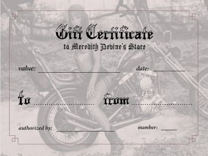 Image of GIFT CERTIFICATES ($25- $50 -$100- $200)