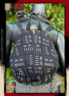 Designs By IvoryB Backpack Black White Mudcloth print