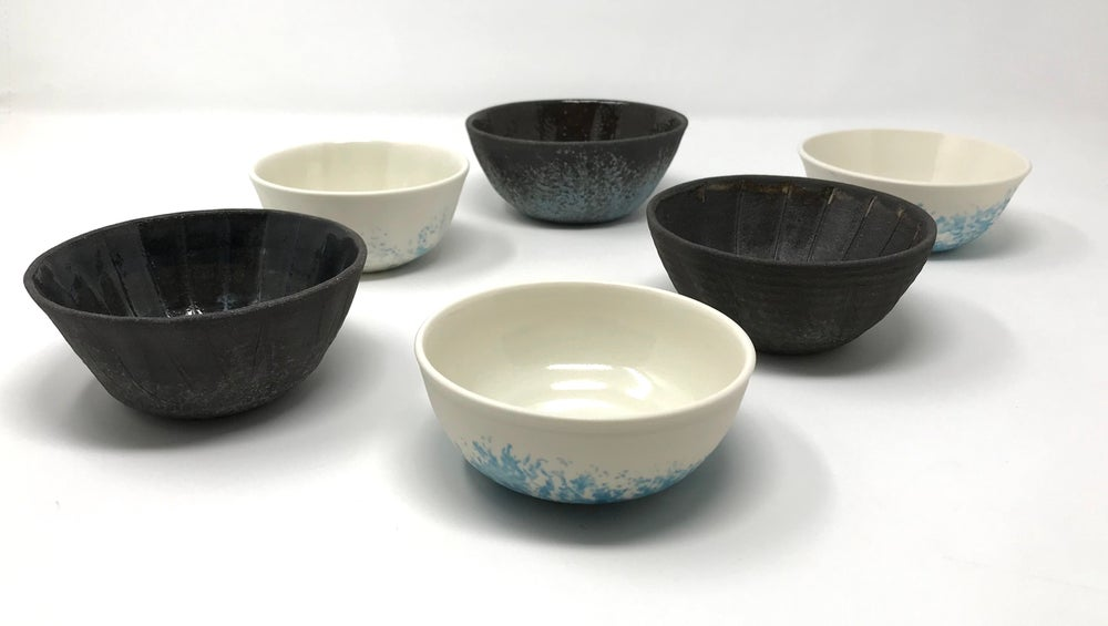 Image of Shell Bowls Porcelain and Black clay Small