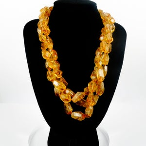 Image of Stunning large Citrine multi strand necklace. NL7