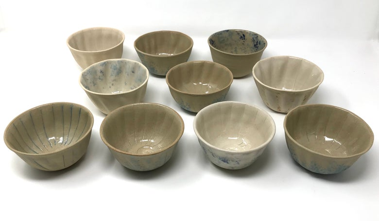 Image of Small Stoneware Shell Bowls
