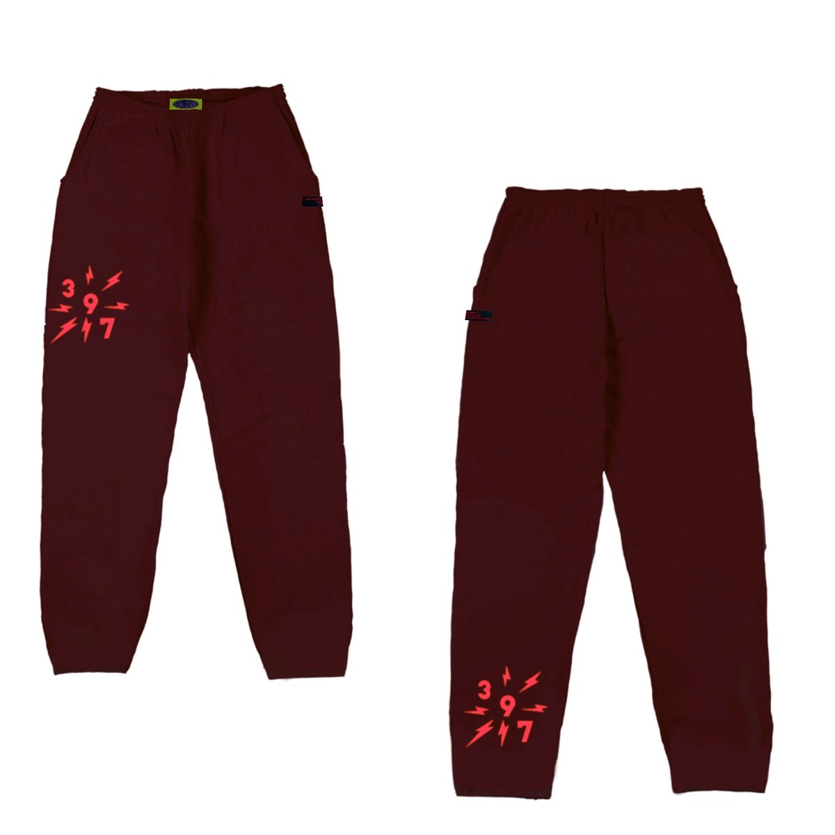 LOGO SWEAT PANT- PLUM