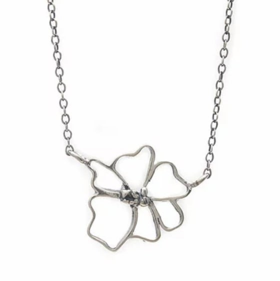 Image of Sterling Wild Rose Necklace
