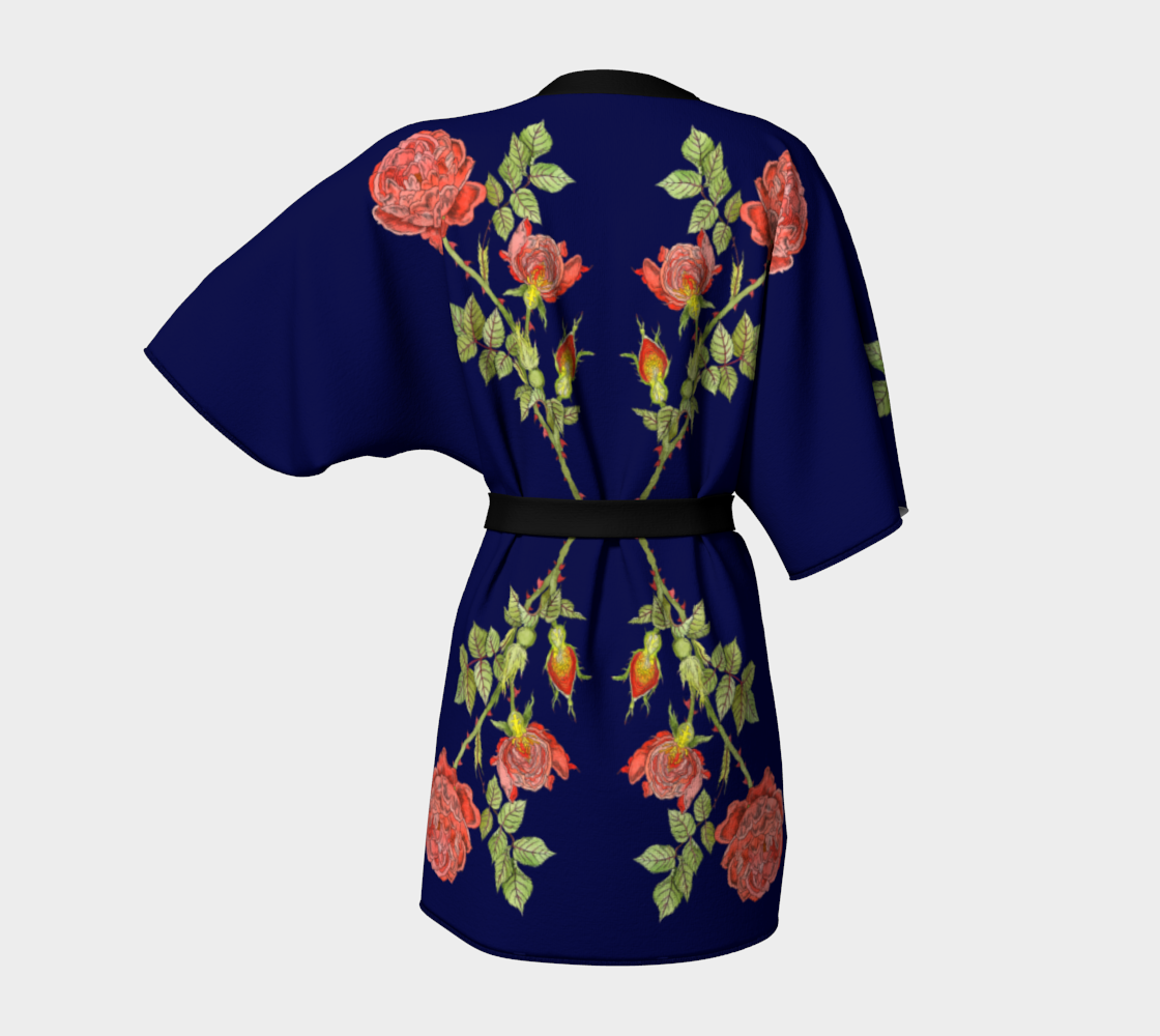 Image of Kimono in Rose Life Cycle Print