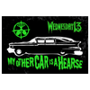 MY OTHER CAR IS A HEARSE - AIR FRESHENER/STICKER PACK