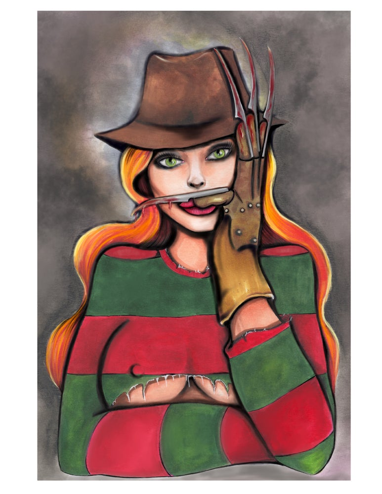 Image of Lady Krueger 12 by 18 inch limited edition  print