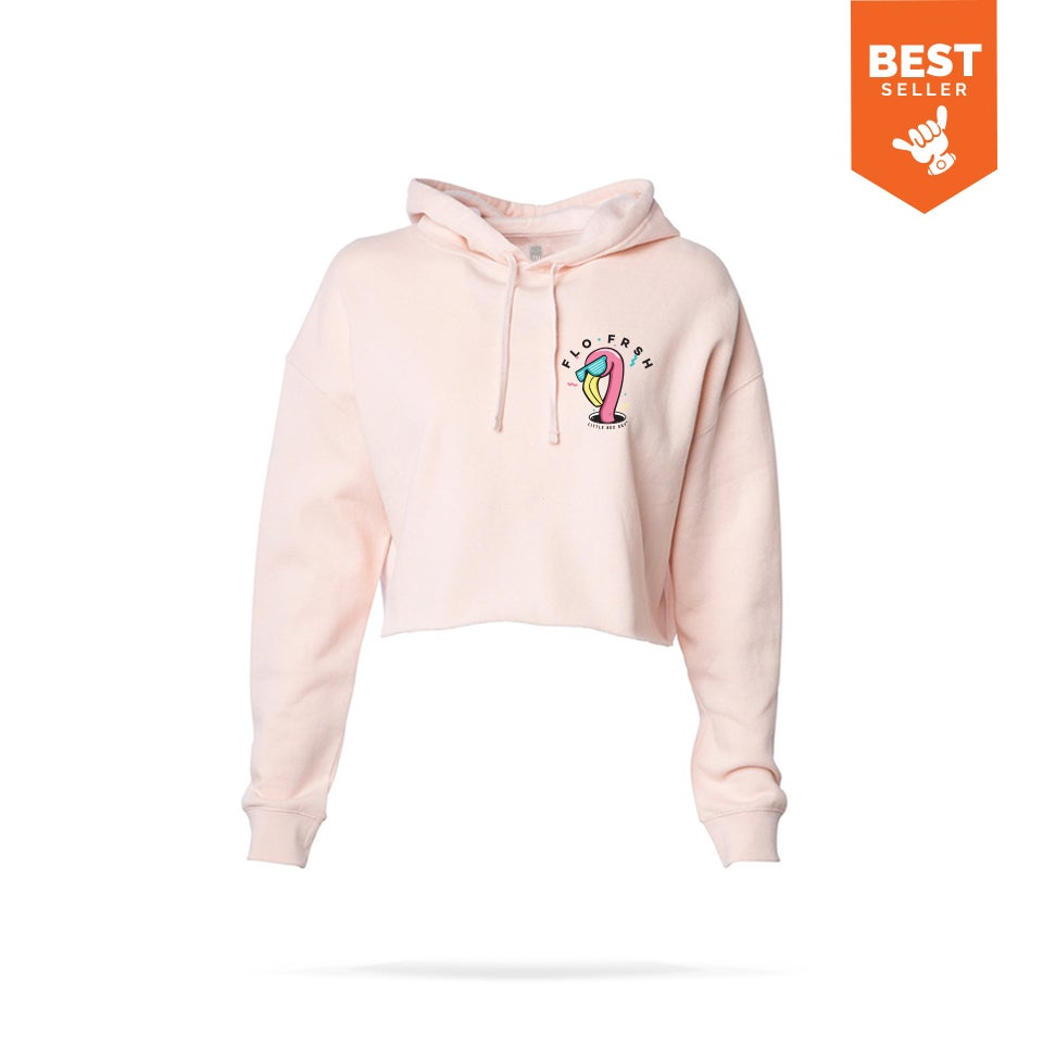 Image of Flamingo 'Hole in One' Cropped Hoodie