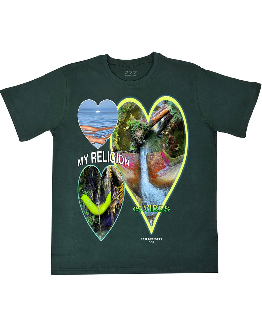 Image of MY RELIGION TEE (GREEN)