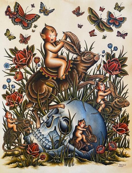 Image of Kewpie Riders print preorder