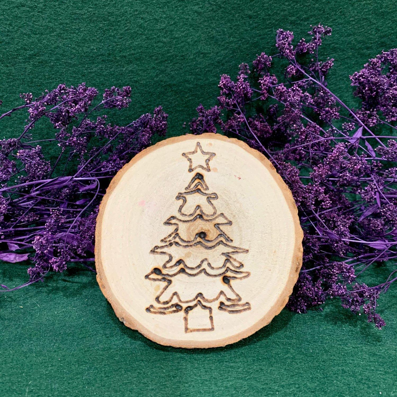 Christmas Tree Wood Slice