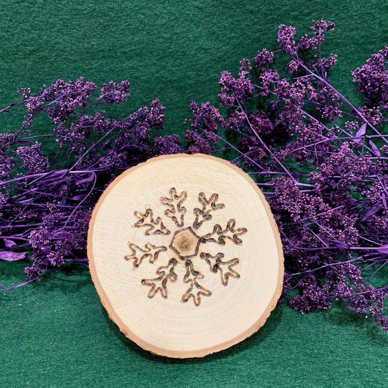 Snowflake Wood Slice