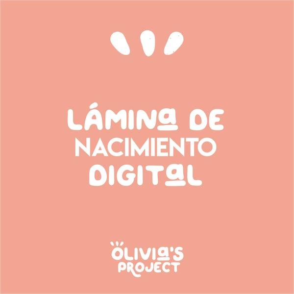 Image of Lámina de nacimiento DIGITAL (cualquier modelo)