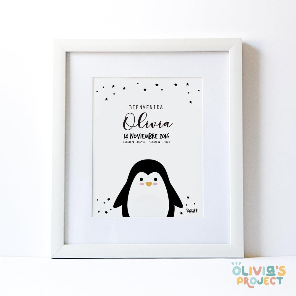 Image of Lámina de nacimiento Modelo Pingüino