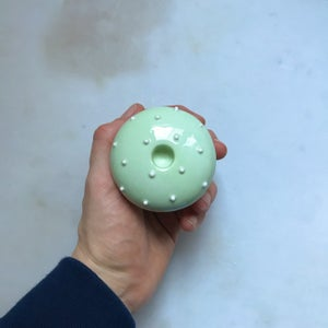 Image of Mushroom - candlestick / light green