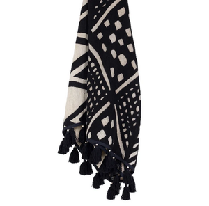 Image of COTTON PARIS THROW BLACK