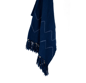 Image of COTTON THROW NOMAD NAVY