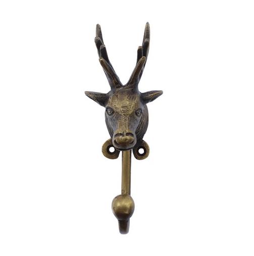 Image of BRASS HOOK - DEER HEAD