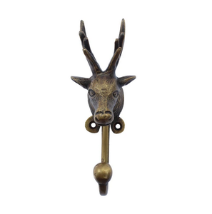 Image of BRASS HOOK - DEER HEAD