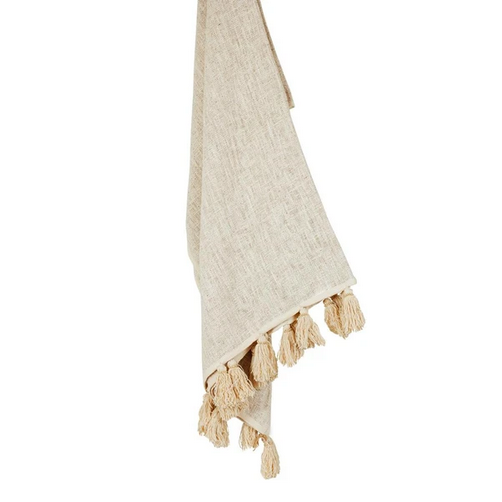 Image of COTTON THROW NATURAL