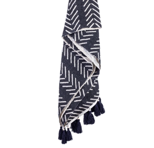 Image of COTTON ZANZIBAR THROW BLACK