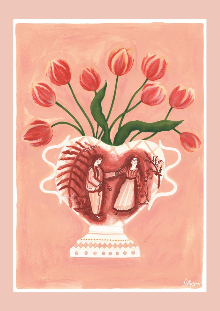 Image of A3 The Original Romantic Vase Print